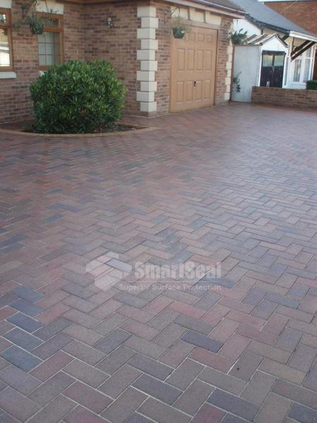 Clay pavers after sealing